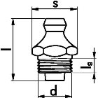 Kegelschmiernippel DIN 71412 Gelb verzinkt 8 x 11000 Stück
