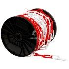 Absperrkette Rot/Weiss  8 mm Kunststoff  Meterware