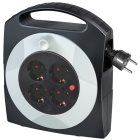 Primera-Line Kabelbox 4-fach schwarz/lichtgrau 5m