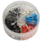 Aderendhülsen mit Kunststoffkragen Streudose 0,5 -2,5 mm²