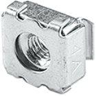 Käfigmutter für Lochblechwände mit Stanzung 10x10 mm Material Stahl mit Gewinde M5 Lieferumfang 10 S