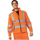 Warnschutz-Softshelljacke EN 20471 (EN 471) Klasse 3 beim Tragen mit Ärmeln warnorange | M