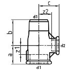 T-Stück mit Innen- und Außengewinde EN10242 Temperguss feuerverzinkt 1 inch  10 Stück