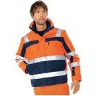 Mascot Loreto 5-in-1 Warnschutz-Jacke  EN 20471 Klasse 3 beim Tragen mit Ärmeln warnorange marine |
