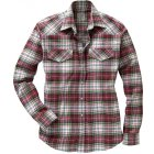 Fairbanks Flanellhemd bordeaux weiss | 3XL