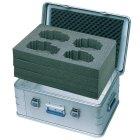 Würfelschaum Maße: ca. 750x350x310 mm vorgestanzt,aus PU-Schaum, passend für Kiste Nr. 40704