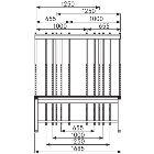 Werkbank-Aufbau mit 2 Säulen und Auslegern BxTxH:1685 x 60 x 1100 mm