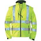 Warnschutz-Softshelljacke EN 20471 (EN 471) Klasse 3 beim Tragen mit Ärmeln warngelb | M