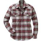 Fairbanks Flanellhemd bordeaux weiss | XL