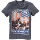 Wrangler Born to ride T-Shirt anthrazit | L
