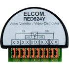 ELCOM RED624Y Videoverteiler 4-fach 2Draht UP