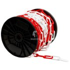 Absperrkette Rot/Weiss  6 mm Kunststoff  Meterware