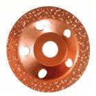 Hartmetalltopfscheibe, 115 x 22,23 mm, fein, flach