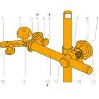 Ersatzteile für Magnet-Messstativ Nr.34170