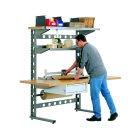 Arbeitsplatzsysteme, einseitige Nutzung1306 x 920 x 1785, RAL9007 Graualuminium