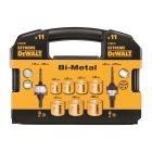 11-tlg. EXTREME DEWALT® BI-Metall Lochs DT8270 x Schnellspanndorn klein, 1x Schnellspanndorn groß