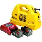 XC1201ME elektrische betriebene Handpumpe kabellos tragbare 1 Liter Pumpe mit 2 Akkus und 23