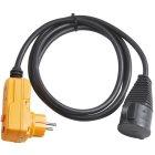 Schutzadapterleitung FI IP44 2m schwarz H07RN-F 3G
