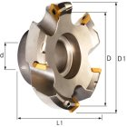 Planmesserkopf 45 Grad 50 mm für Wendeschneidplat
