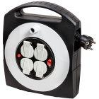 Primera-Line Kabelbox-S 4-fach mit Schalter schwar