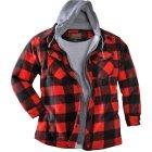 Trailcrest Lumberjack Kapuzenfleecejacke rot schwarz | XXL