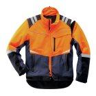 Schnittschutz Profi Jacke Navy, Orange, Schwarz -GR: XL