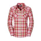 Jack Wolfskin Gifford Funktionsbluse dried tomato checks