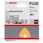 Schleifblätter C470 Best for Wood and Paint, 6 Löcher, Korn 120 -NR. 2608605152 Geeignet für: Holz,