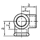 Gewindefitting Winkel EN10242 Temperguss feuerverzinkt 0,5 inch 28 mm  20 Stück