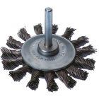 Rundbürste Ø 70 mm mit Schaft 6 mm Gezopfte Form