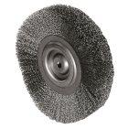 Rundbürste Durchmesser 80 mm, Bohr.10 mm Gewellter Stahldraht 0,3 mm
