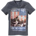Wrangler Born to ride T-Shirt anthrazit | XL