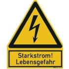 PWZSS Warnzeichen Starkstrom Lebens