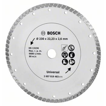 Diamanttrennscheibe Turbo, Durchmesser: 230 mm