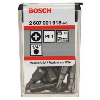 Schrauberbit Extra-Hart, PH 1, 25 mm, 10er-Pack, i