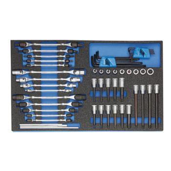 Steckschlüssel-Sortiment in 4/4 CT-Modul, 59-tlg