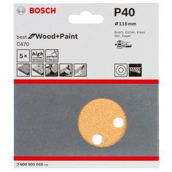 Schleifblatt-Set Best for Wood, 5er-Pack, 8 Löcher