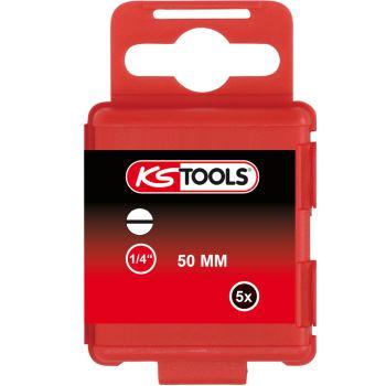"""1/4"""" Bit Schlitz, 50mm, 5mm, 5er Pack 911.2756"""