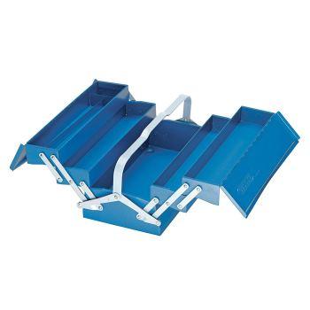 Werkzeugkasten, leer, 5 Fächer, 210x420x225 mm