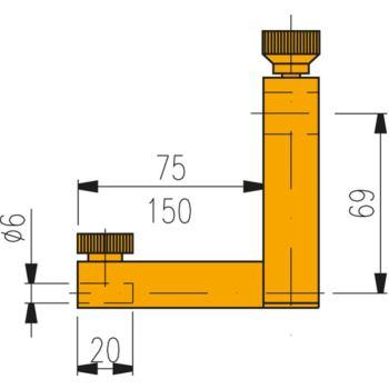 Messeinsatzträger für Messtiefen bis 110 mm