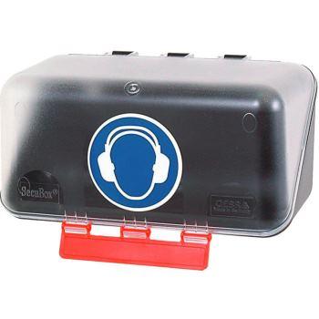 Sicherheits-Box für Gehörschutz 236x120x120 mm tra