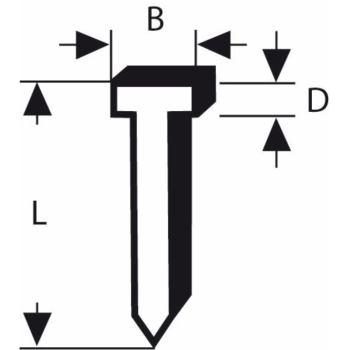 Tackerstift Typ 49, 2,8 x 1,65 x 25 mm