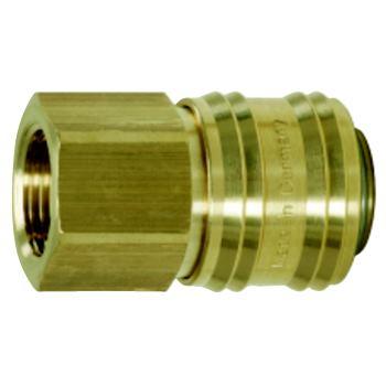 Messing-Kupplung mit Innengewinde, 10x22mm 515.348