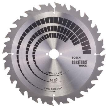 Ø 315 x30 x3,2 mm Kreissägeblatt Construct Wood 20 Zähne