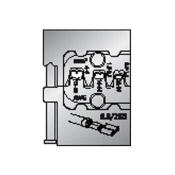 Modul-Einsatz für Flachsteckhülsen 6,3