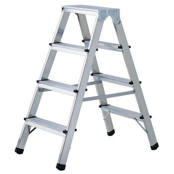 Doppelstufenleiter Aluminium Handwerkerqualität 2x