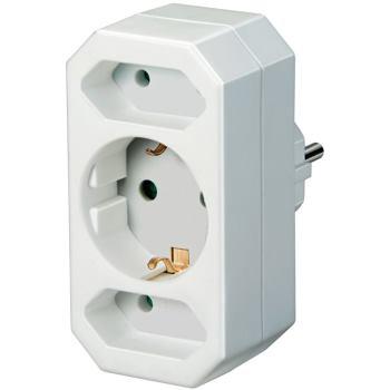 Adapterstecker Euro 2 + Schutzkontakt 1