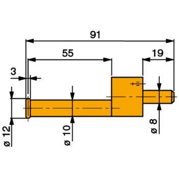 TESA Messeinsatz mit Messscheibe 12 mm Durchmesser