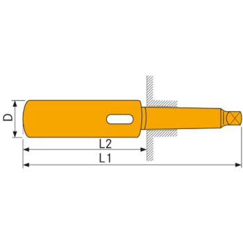 Verlängerungshülse MK 1/1 DIN 2187 gehärtet