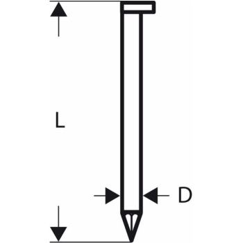 D-Kopf Streifennagel SN34DK 80, 3,1 mm, 80 mm, bla